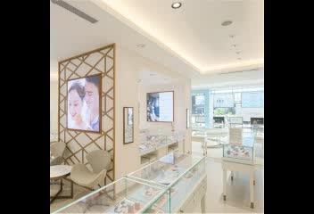 Professionele aangepaste elegant sieraden display showcase voor sieraden winkel interieur