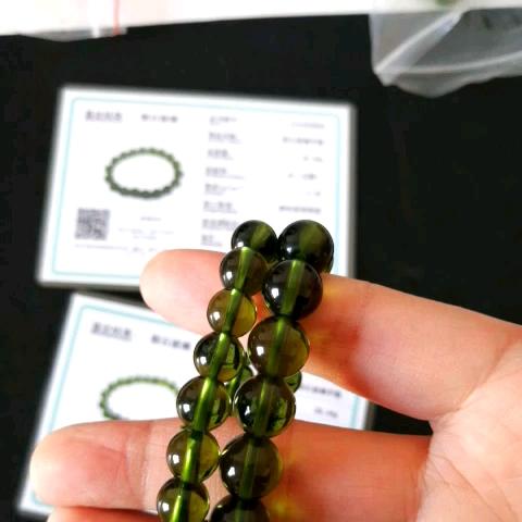 Charmante A + 100% Natuurlijke Moldavite Groen aerolites Tsjechische Kristal Steen Ruwe Steen Slijpen 8mm Bead Meteoriet Armband