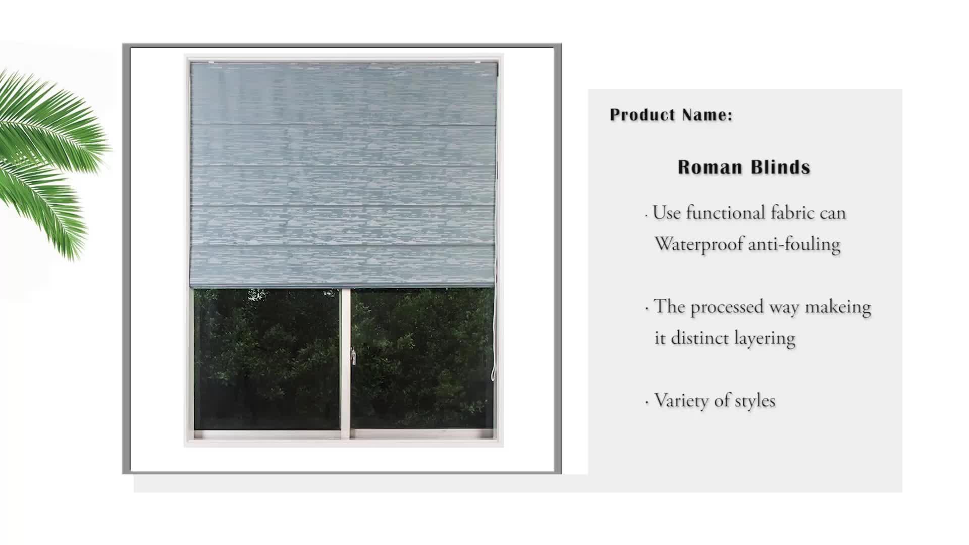 La cina ha fatto per misurare la tonalità della finestra orizzontale pieghevole cordino di chiusura blind romano