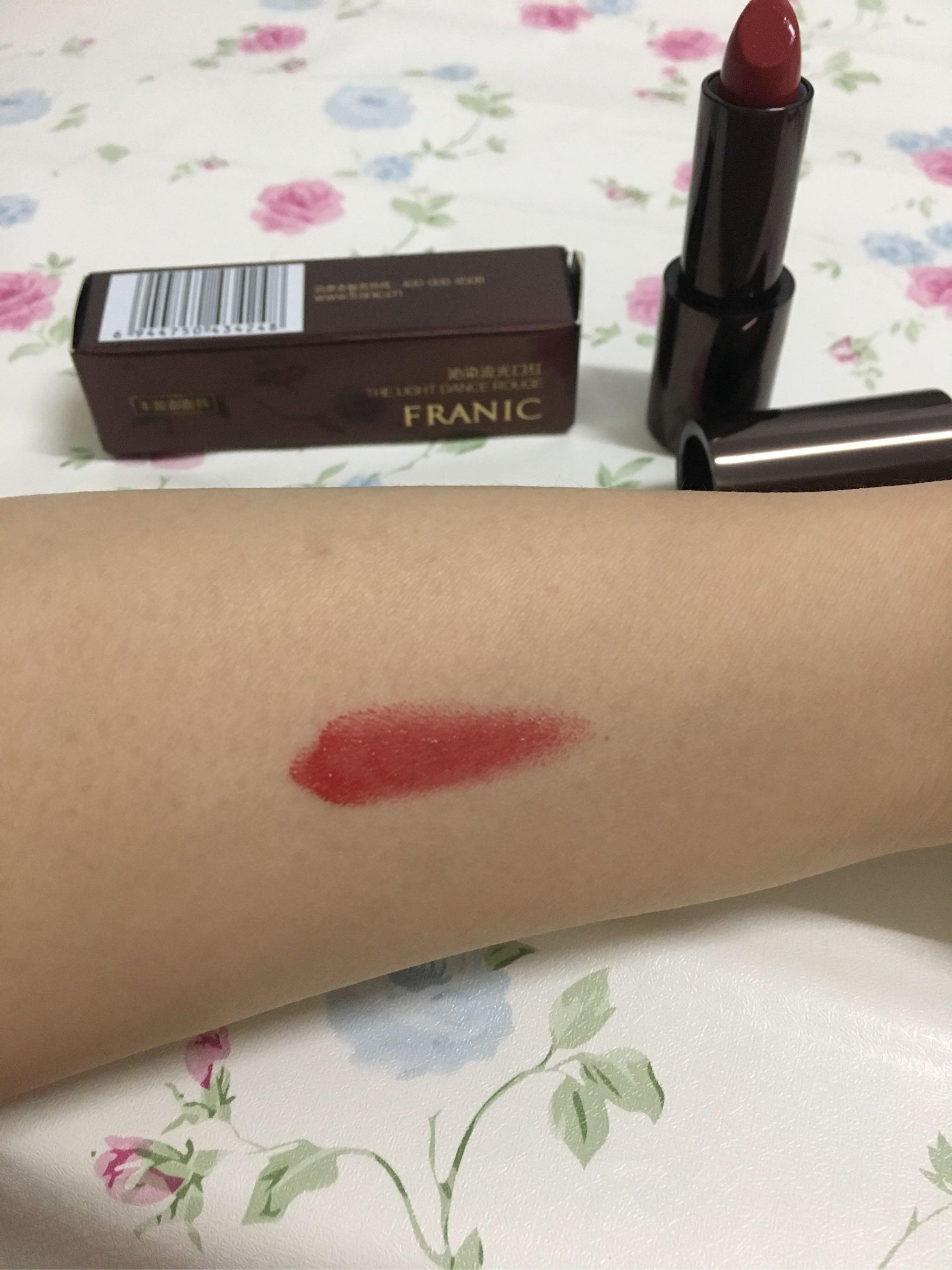 热卖潮牌FRANIC法兰琳卡#R02色号口红深红车厘子试色