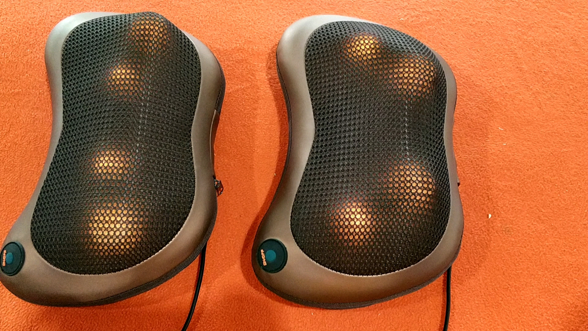 Car and Home Electric Rolling Kneading Shiatsu Infrared Heated Full Body Neck Massage Pillow with Heat
