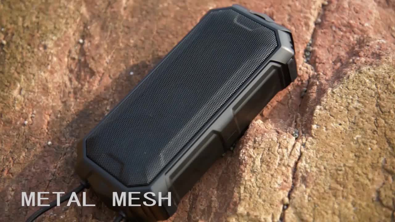 mini outdoor portable 6W*2 passive radiator, heavy bass dj speaker, wireless bluetooth speaker