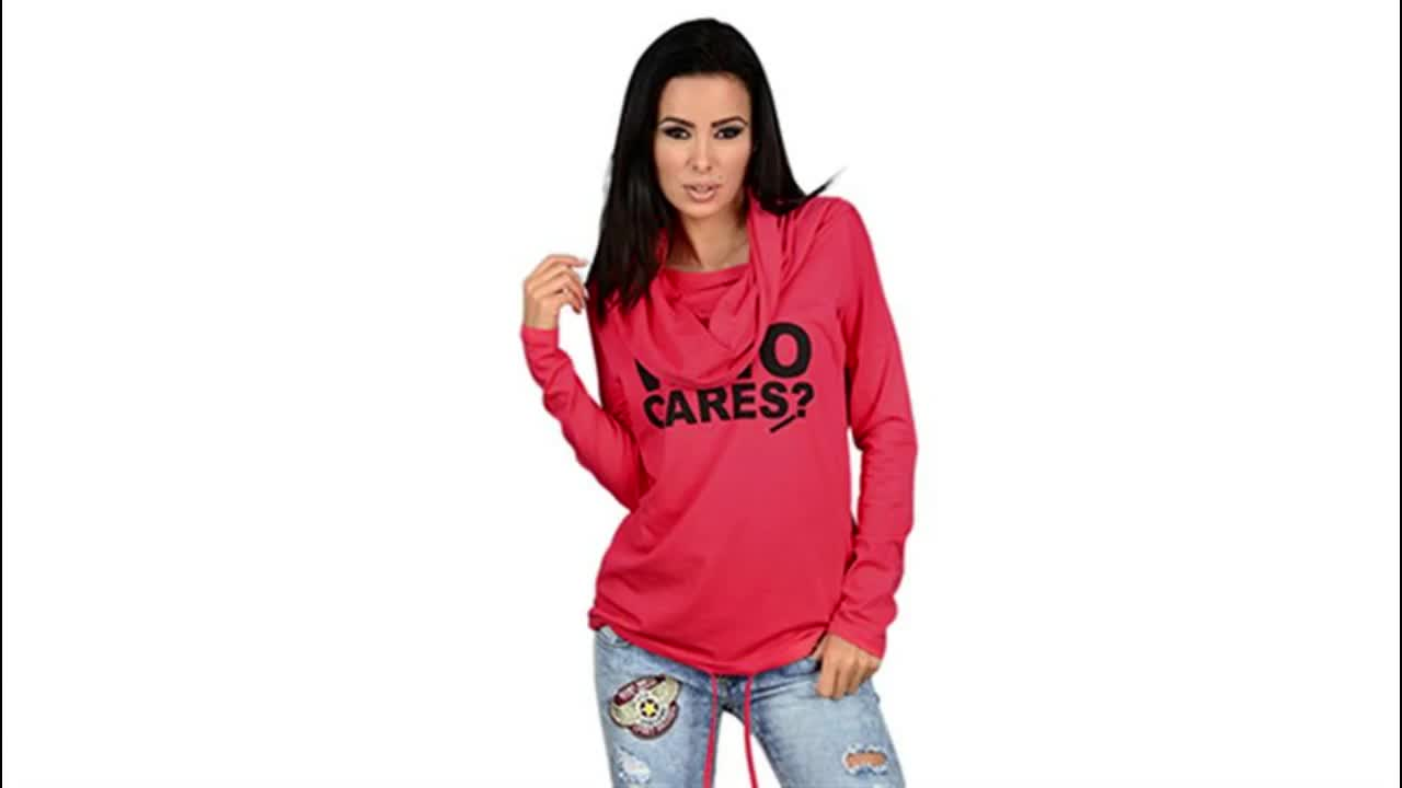 Factory Direct Wholesale Fashion Solid Cotton Hoodies Women Drawstring Sweatshirts