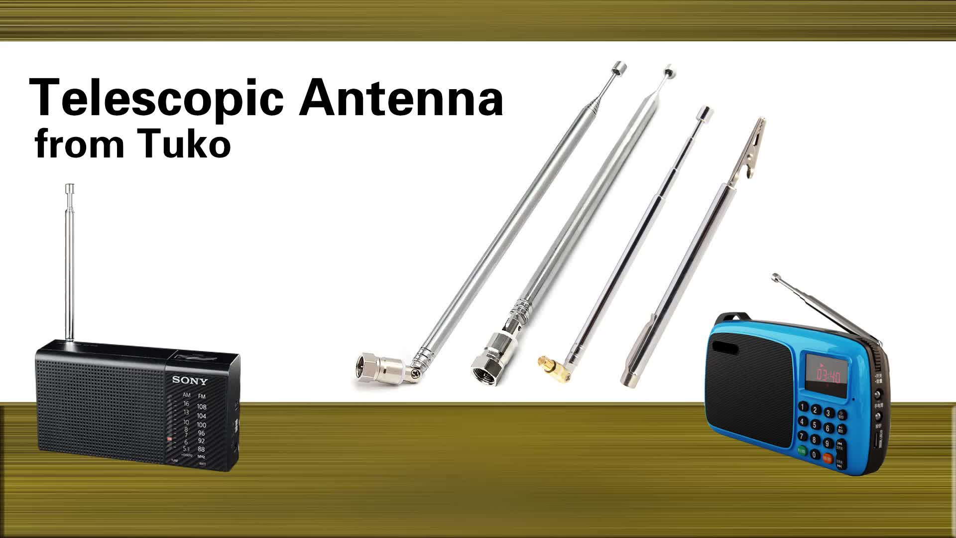 toy remote control antenna with telescopic rod