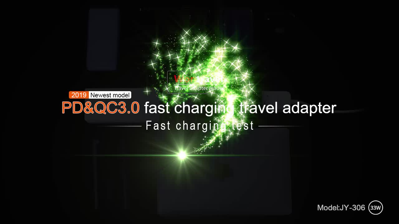 Electronic Switching Plug 33W PD Quick Charger Universal Travel Adaptor Power Laptop Cell Phone Charger Adapter