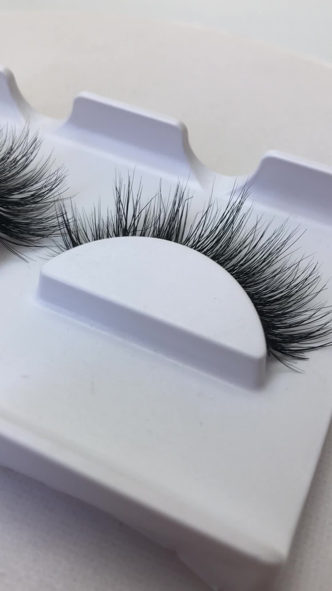 Wholesale 100% Real Siberian Mink Fur Mink Eyelashes 3d ...