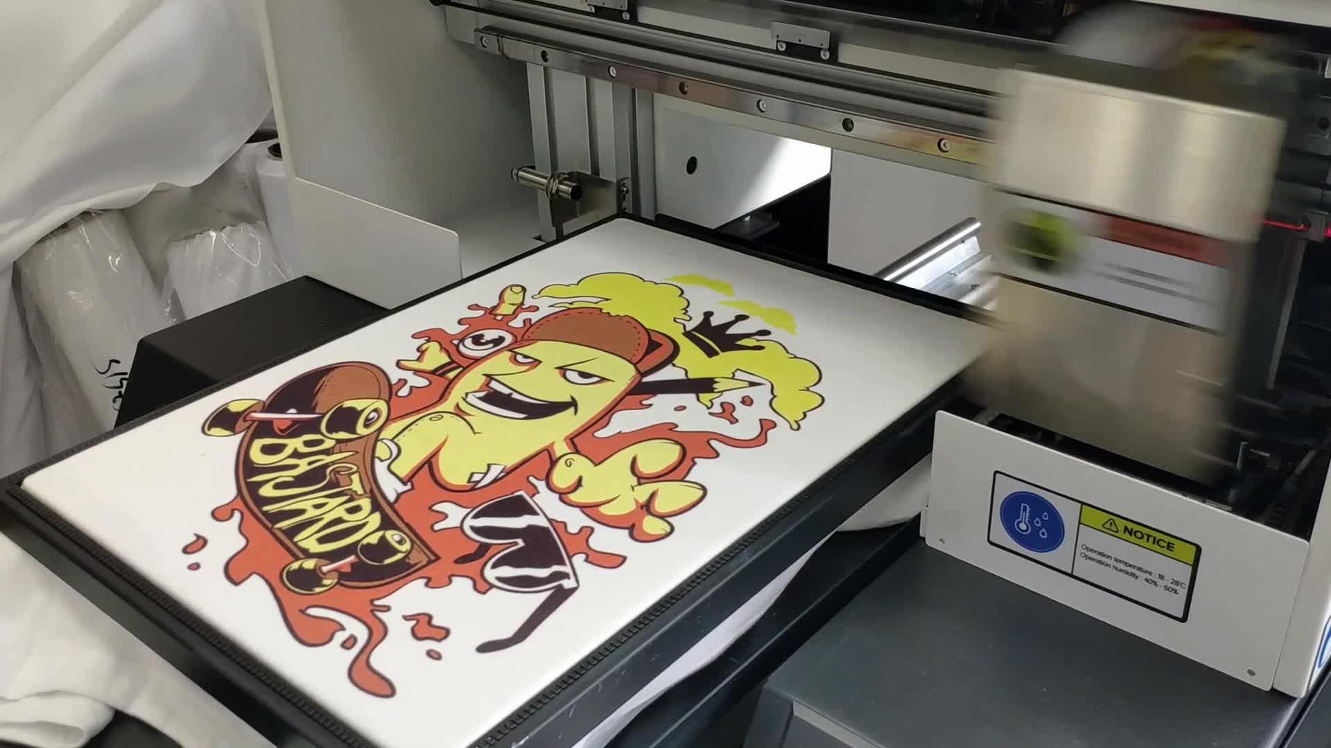 Custom t เสื้อพิมพ์ dtg เครื่องพิมพ์ a4 a3 TP-300C พร้อม dx7 printhead