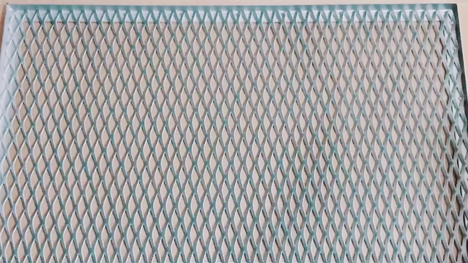 Toptan Dekoratif Genişletilmiş Metal Vinil Kaplı Alüminyum Genişletilmiş Mesh