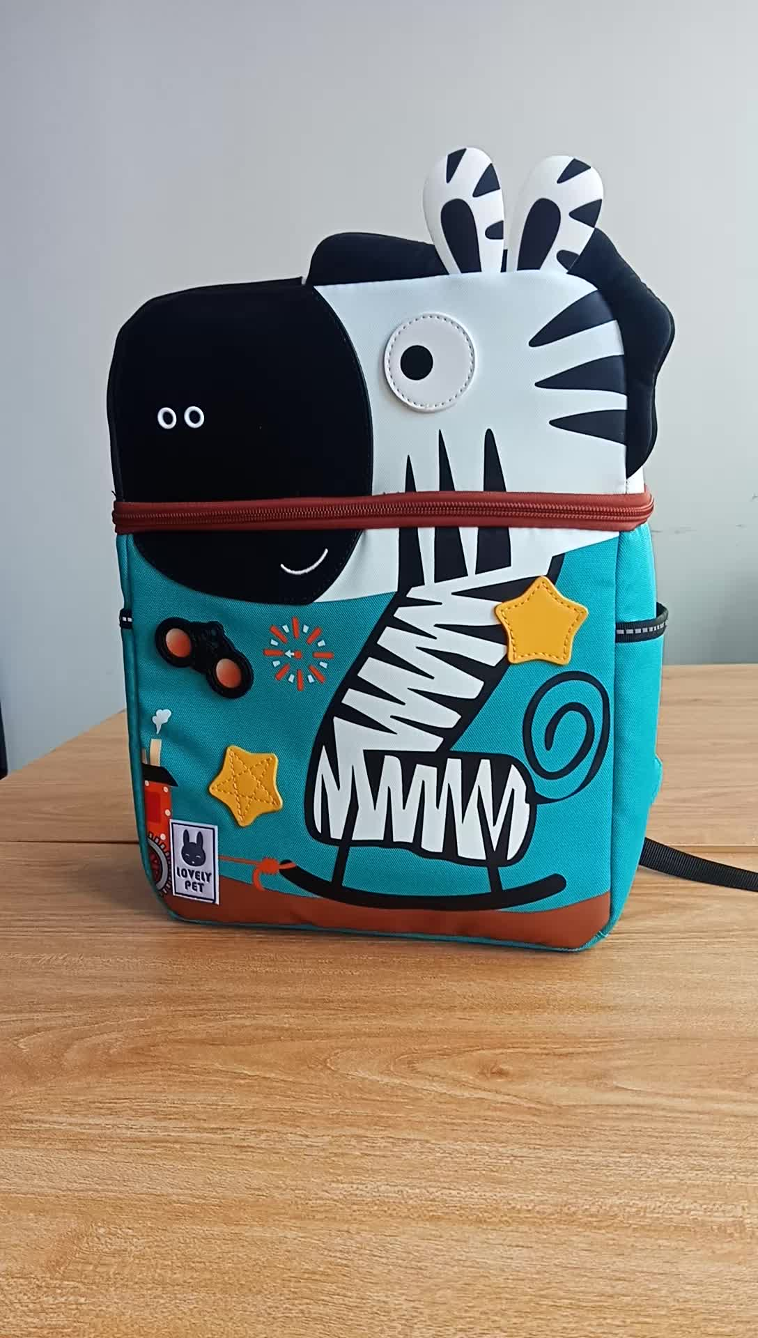 Детский рюкзак с динозавром, милый детский водонепроницаемый рюкзак с 3D рисунком из мультфильма, сумка для дошкольников, дошкольников, детских садов, От 2 до 7 лет