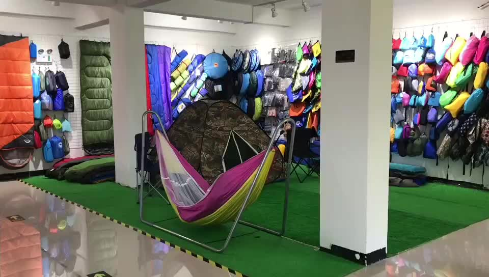 210T Nylon Portable 2 Person Outdoor Camping Hammock With Tree Strap hammock with mosquito net