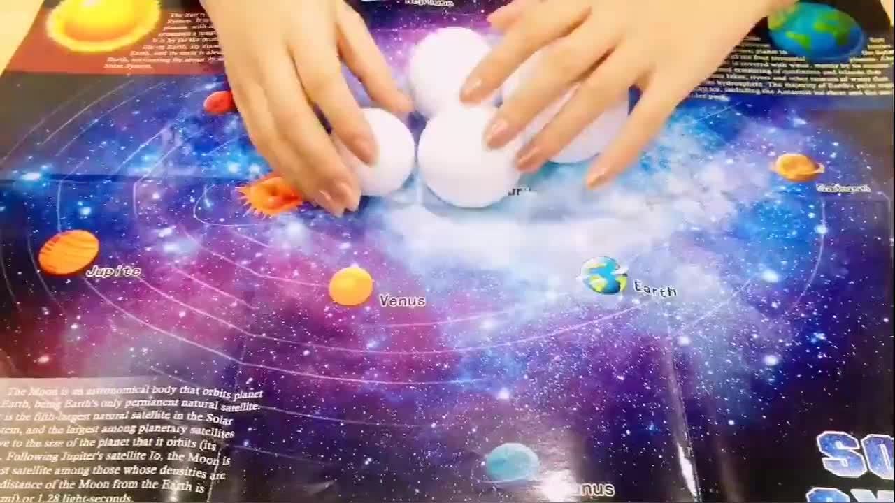 การศึกษาวิทยาศาสตร์ของเล่นในดาราศาสตร์และพื้นที่ที่น่าตื่นตาตื่นใจจักรวาล