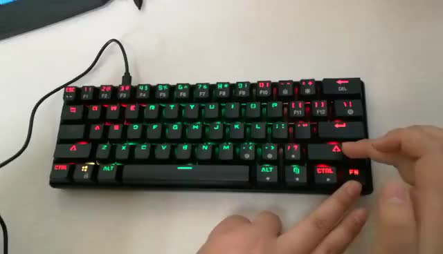 Portable gaming keyboard with led backlit wireless mechanical gaming keyboard