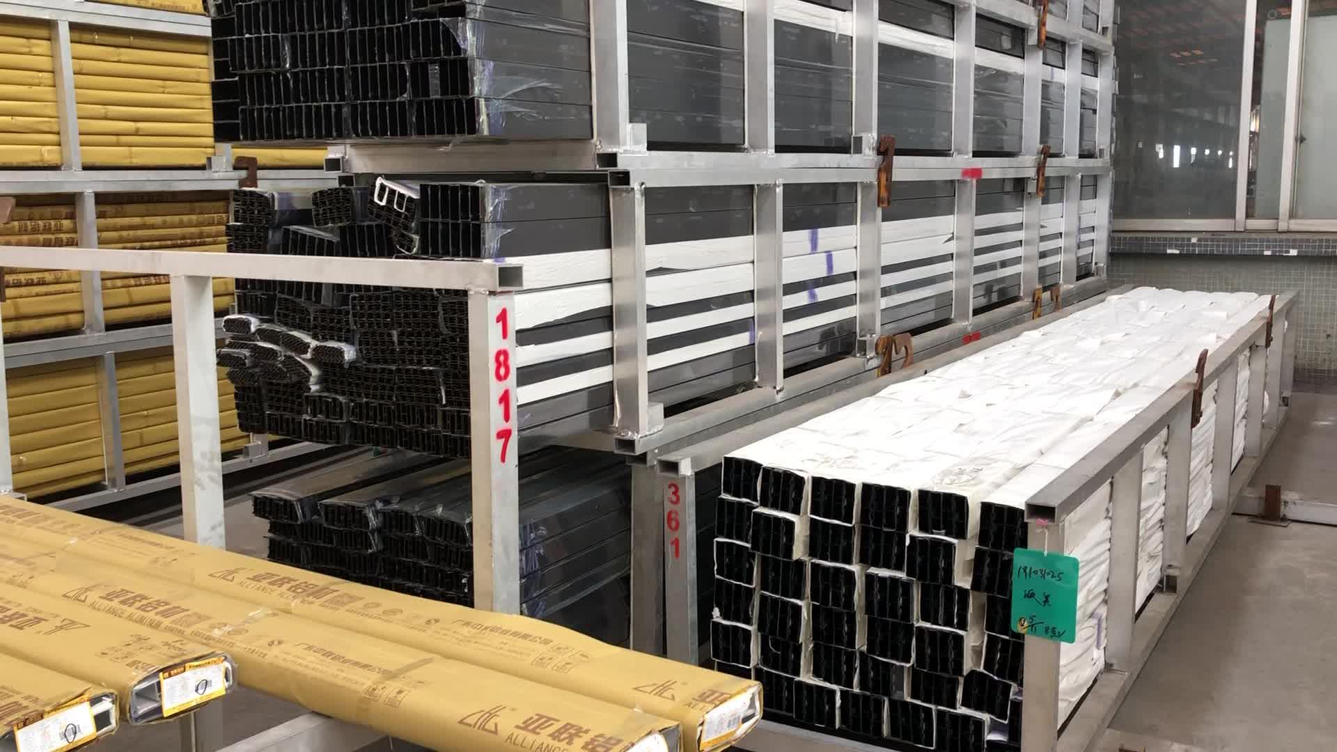 Alloy extrusion workshop for aluminum wardrobe sliding door frame profile,aluminum frames for truck body