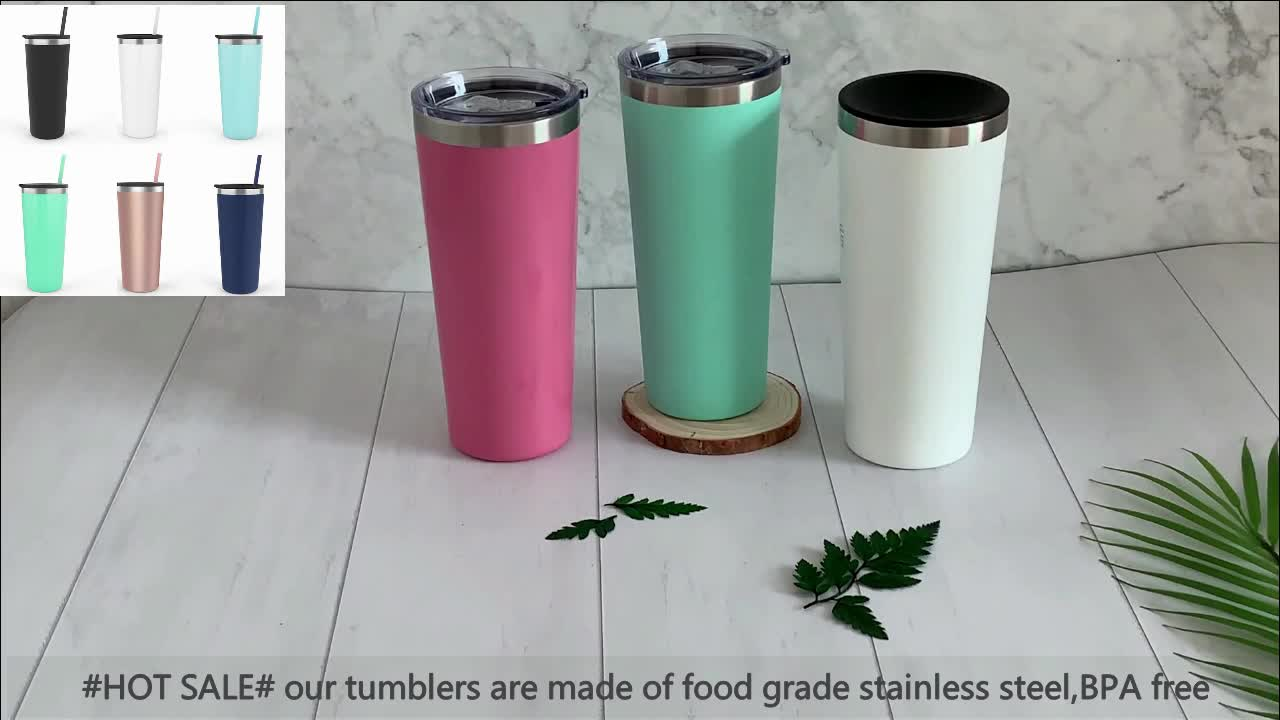 RTS Hot Sale 8Oz 12Oz Tumbler Stainless Steel Grosir dengan Tutup