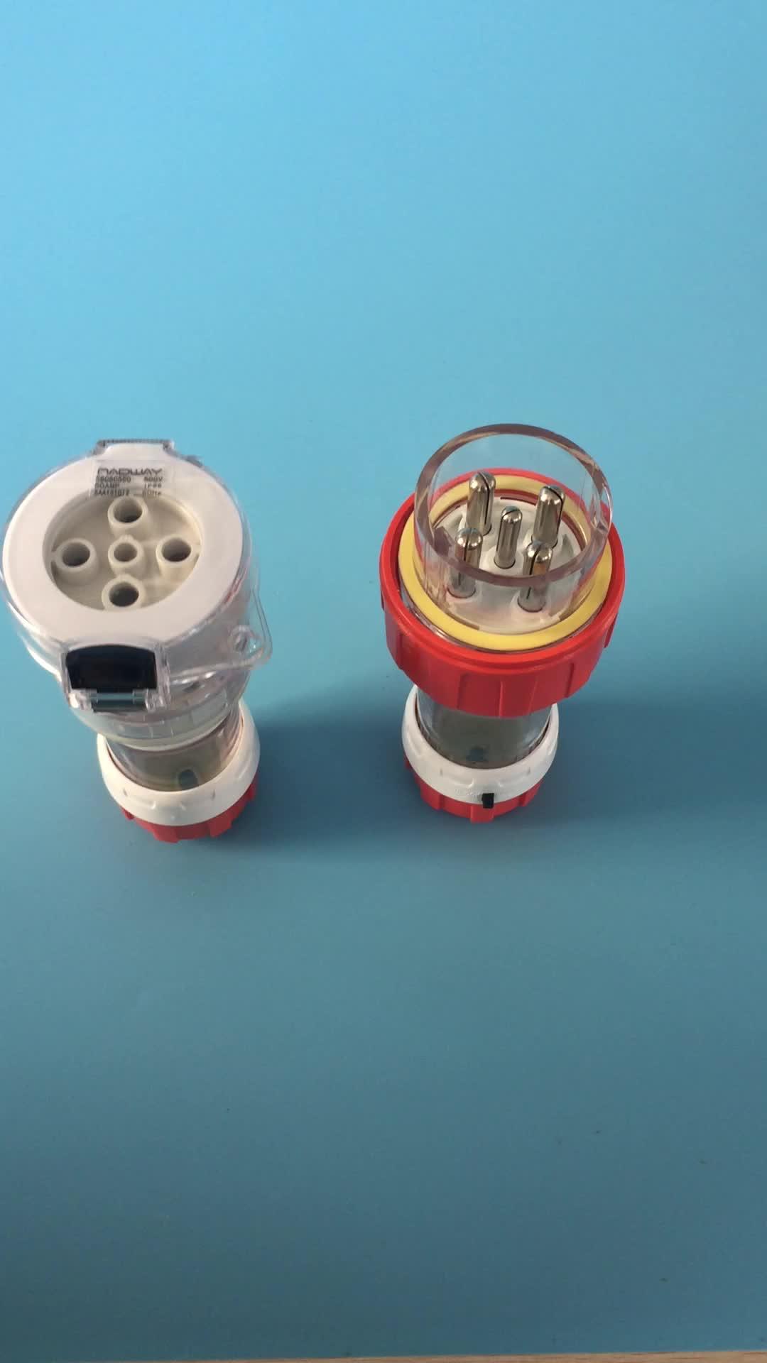 High quality waterproof 50A 5Pins  plug Australia industrial plug56p550
