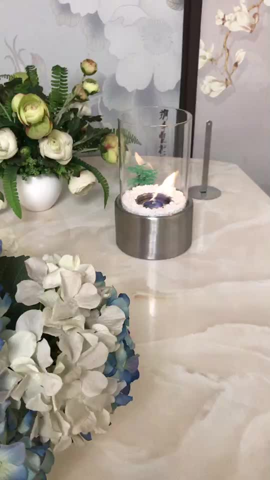 Inno living MY- bio kamin glass cylinder christmas table top fireplace