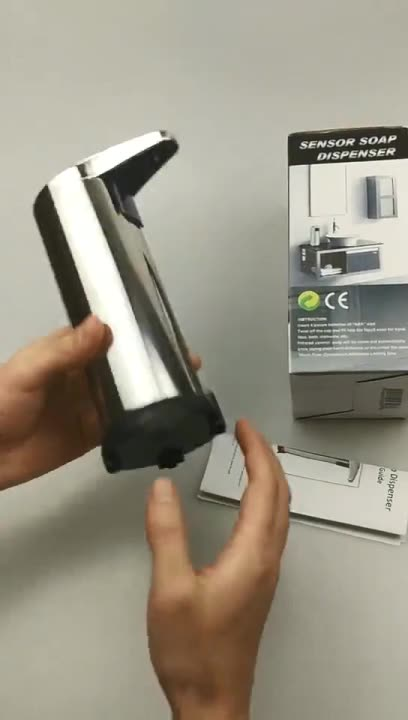 Metal Material Electric Automatic Hand Sanitizer Dispenser LCD Infrared Touchless Foam Dispenser