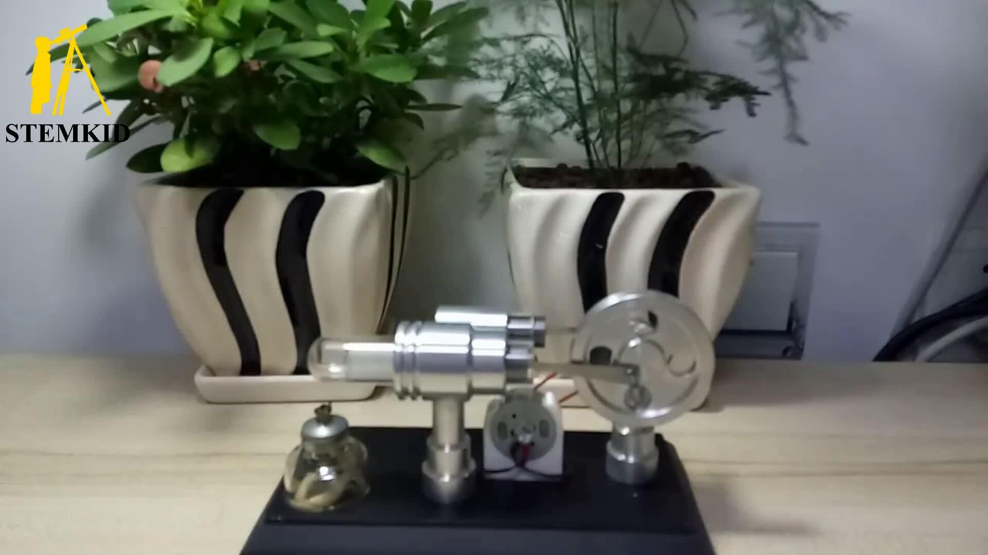 Генератор с цветным светодиодным питанием от Стирлинга модель паровой двигатель Китай