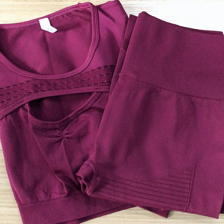 Custom Wholesale New Sports High Waist Fitness Pants Yoga Set Women Top Tights Gym Clothing Two Pieces Set Plus Size