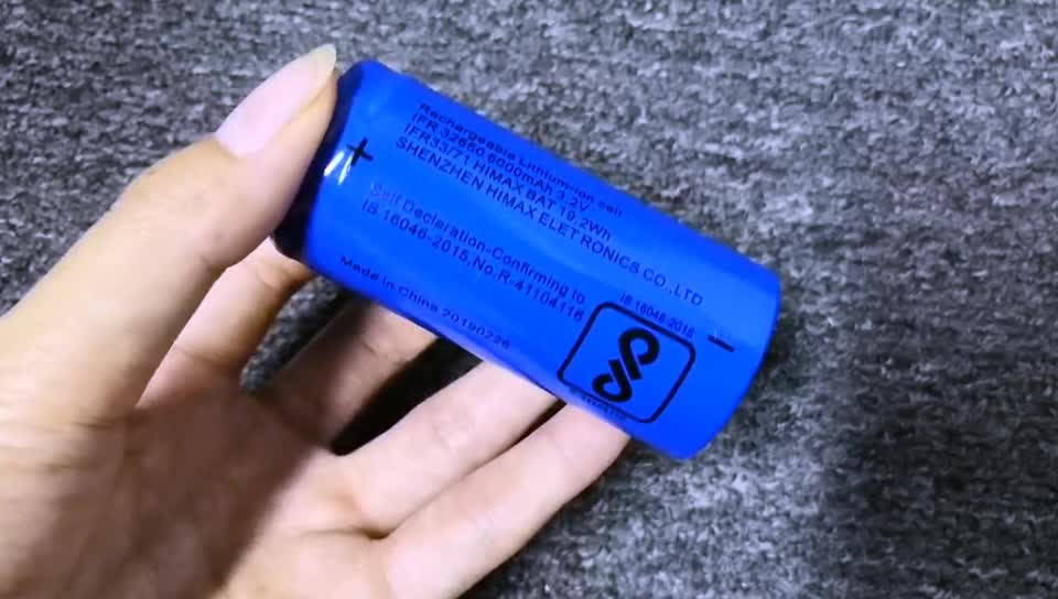 BIS Approved Rechargeable LiFePO4 IFR 32650 32700 3.2V 6000mAh Battery Cell
