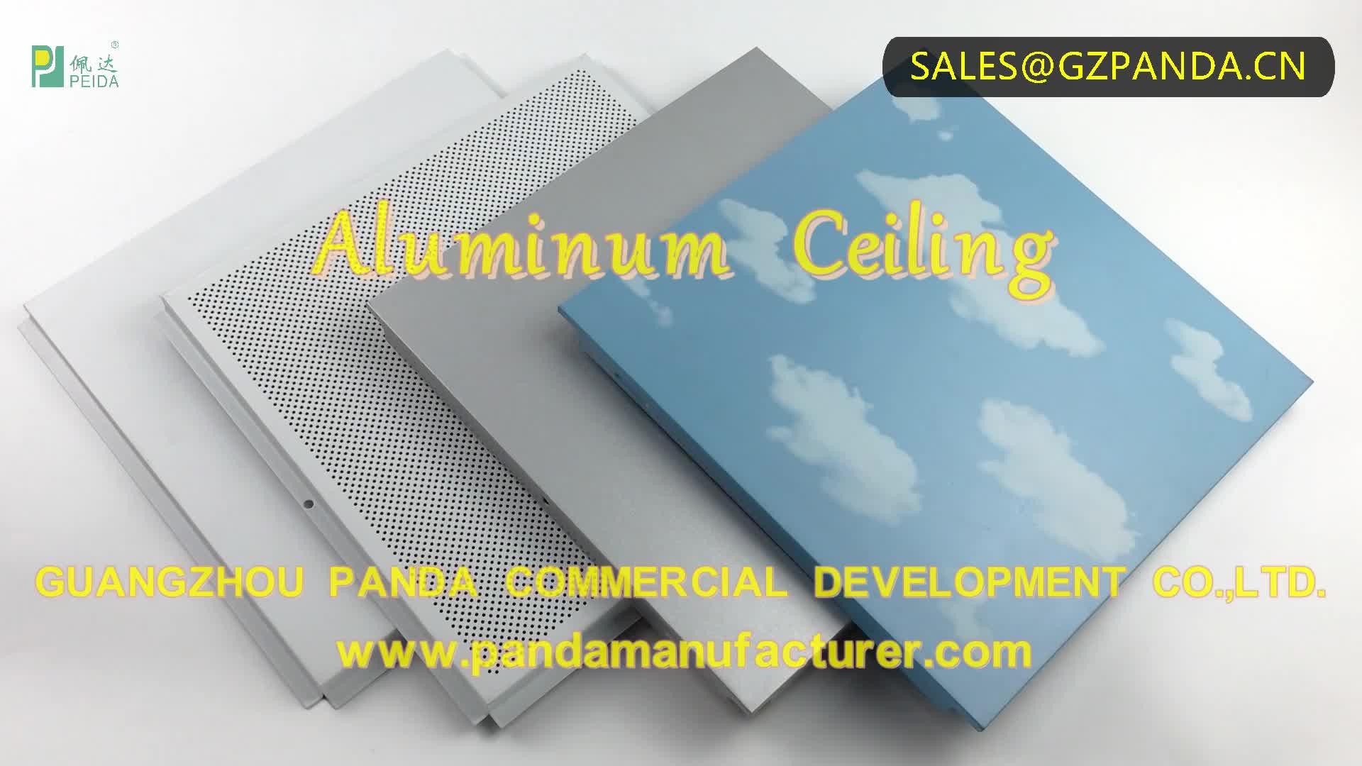 600x600mm Perforated Clip-in Square Aluminum Ceiling Tile