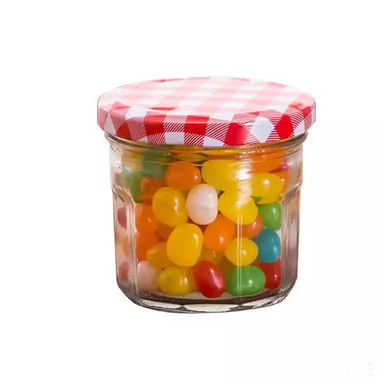 100 ml ราคาถูก Square Clear แก้วน้ำผึ้งขวดน้ำผึ้ง Jar คอนเทนเนอร์เก็บอาหาร Jar พร้อมฝาปิด