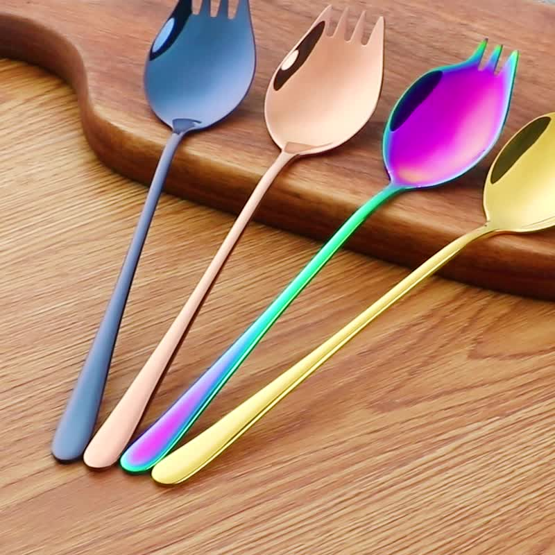 Venda quente de aço Inoxidável forma de leque peculiar fruto bife faca e garfo de jantar