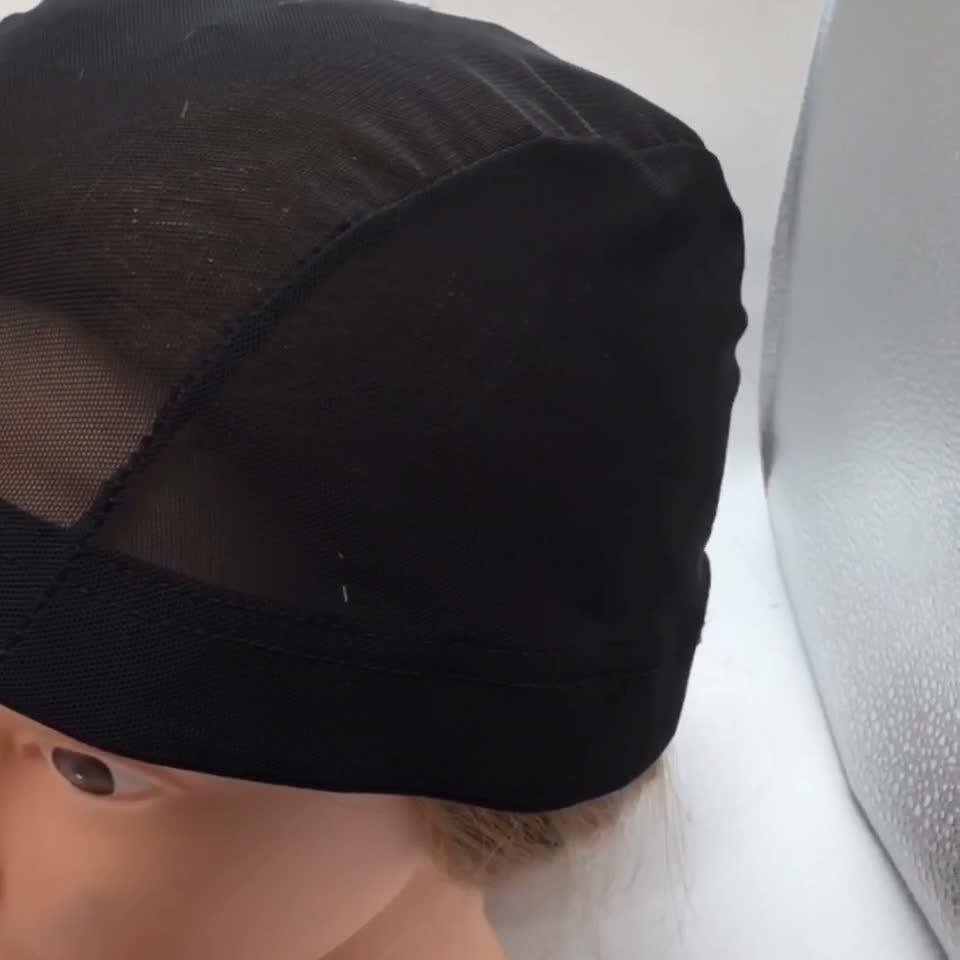 Hotsale Stretch Mesh Spandex Net Dome Cap Plastic Black Spandex Dome Wig Caps For Making Wigs