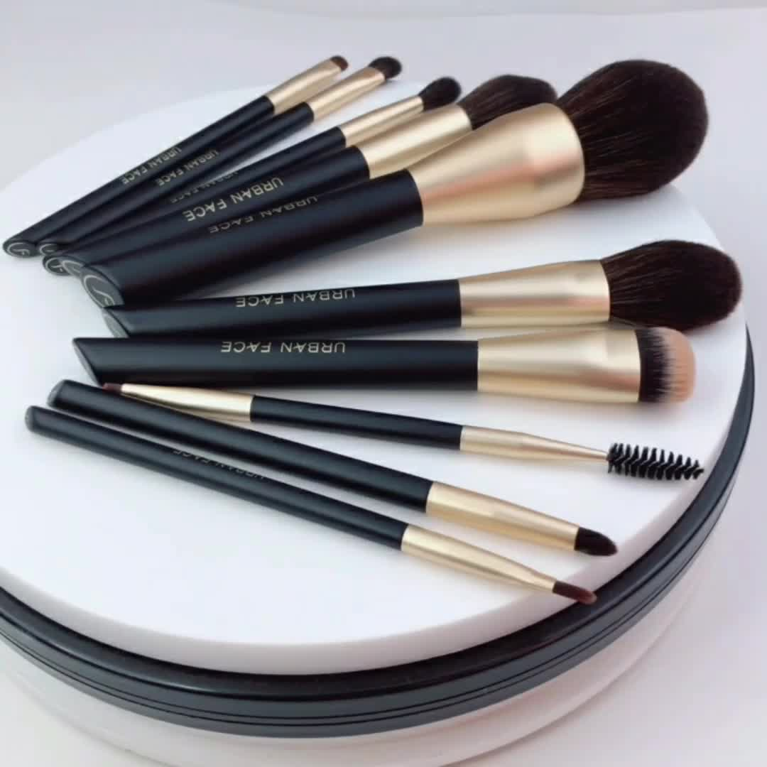 HXT-014 luxus premium kosmetische brushse set private label professionelle gold make-up pinsel set für täglichen make-up