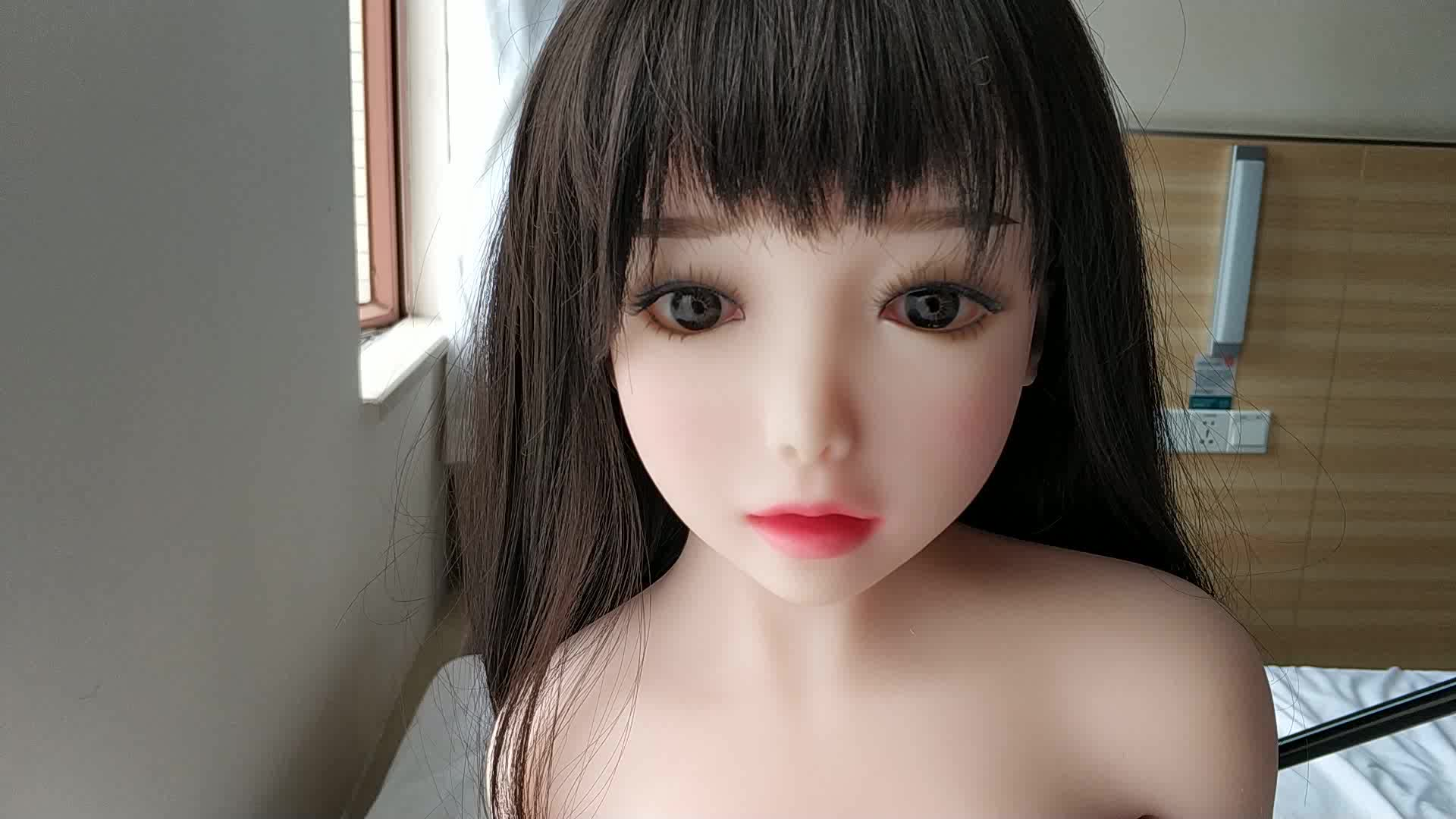 Free shipping pretty 100cm TPE with skeleton white skin big breast sexy love realistic mini sex dolls for male