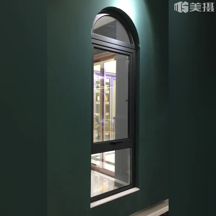 aluminum alloy awning window /top hung ventilation glass window