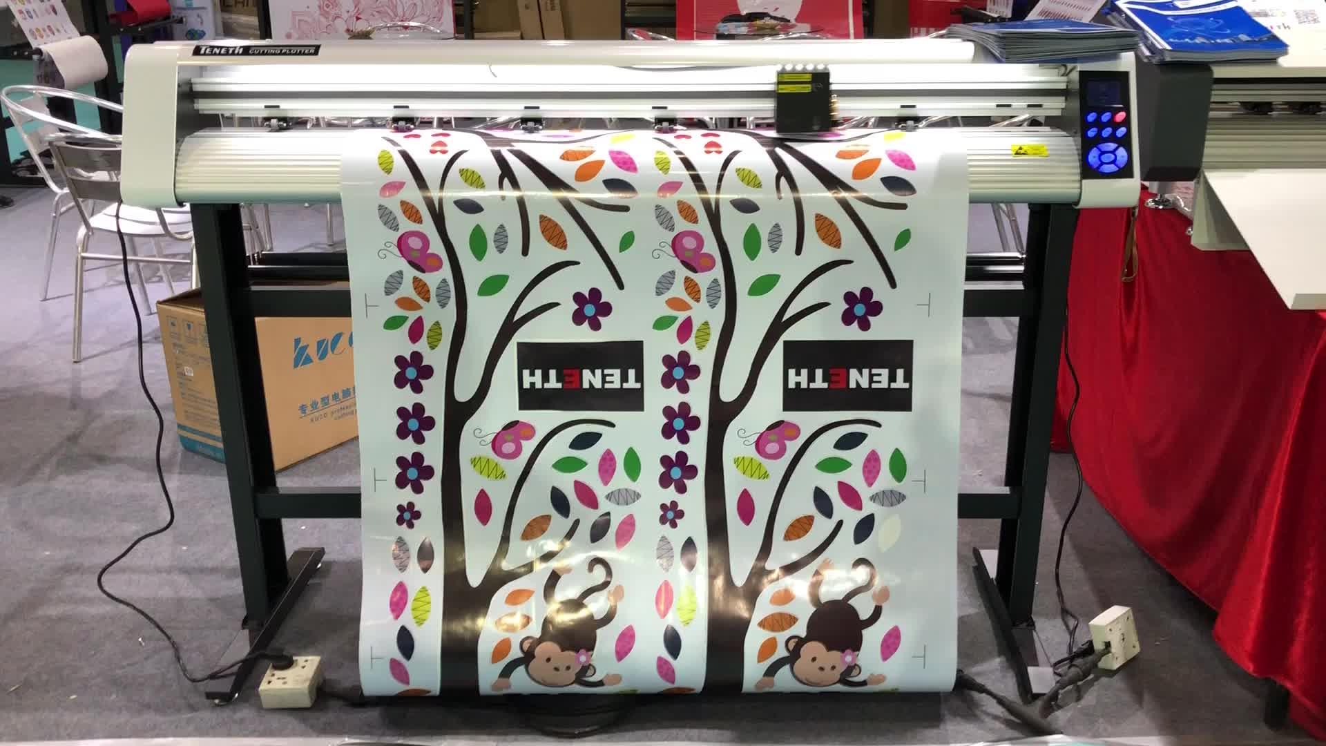 Chinese manufactory 1300mm 1600mm width advertising equipment 721 sticker fabric cutting plotter