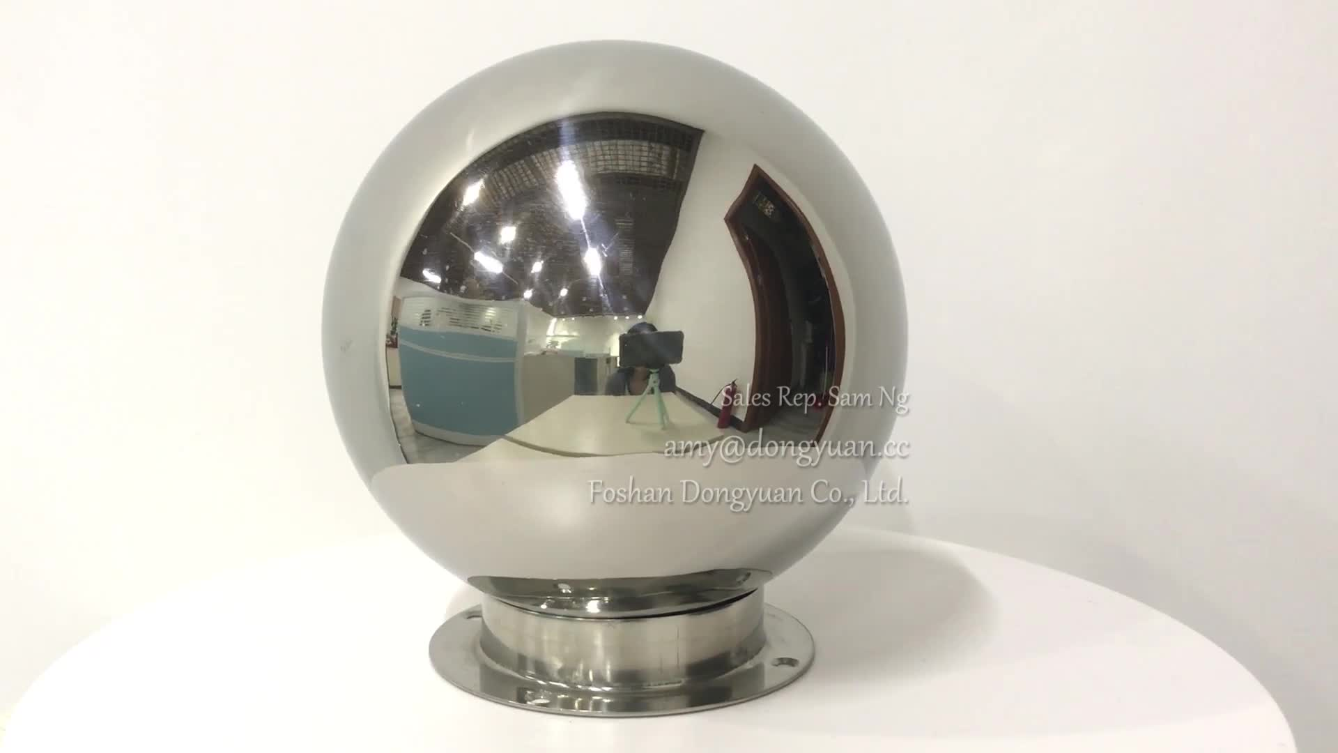 150mm, 180mm Small Shiny Mirrored Stainless Steel Hollow Sphere/Ball