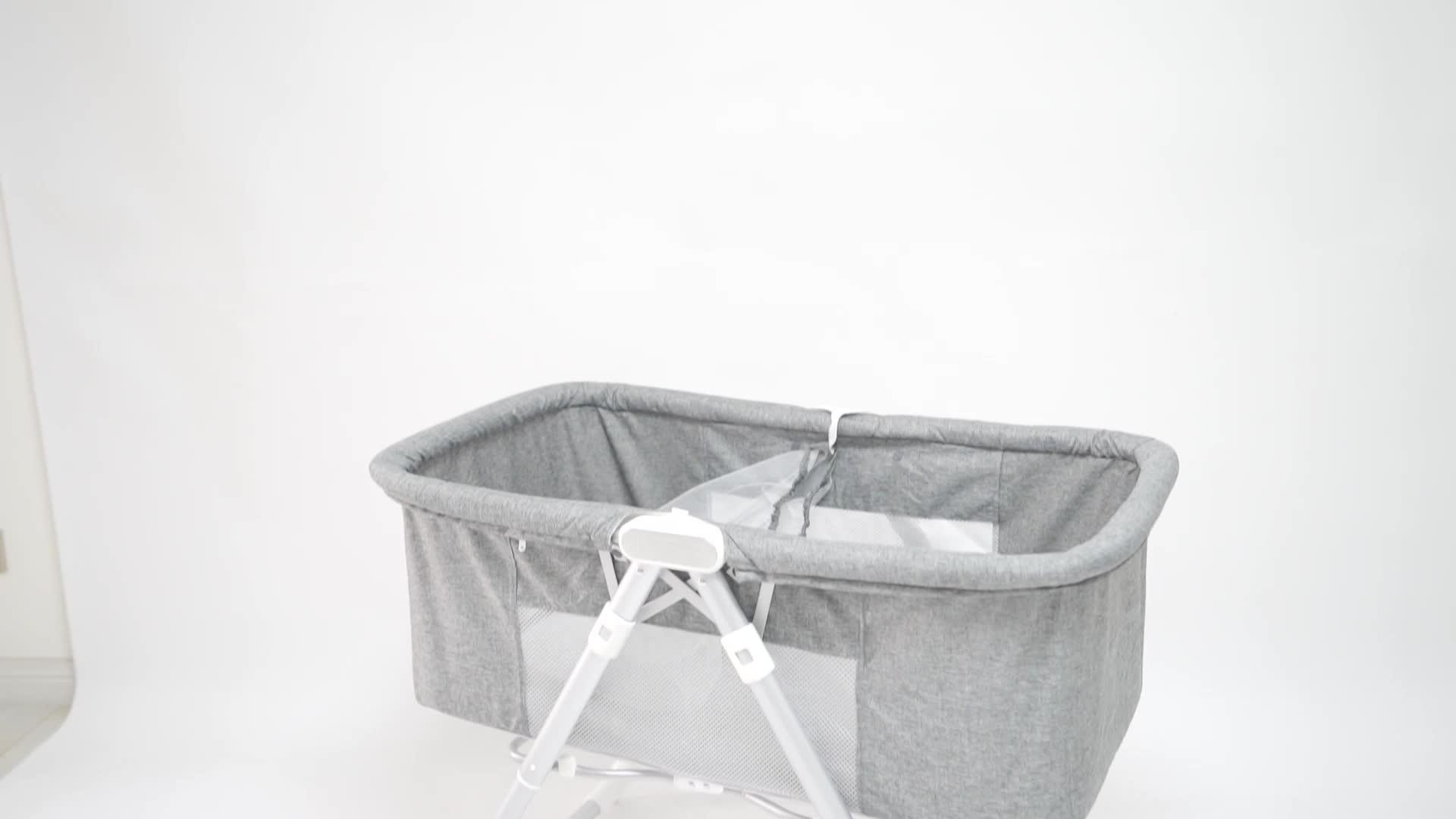 Klapp Mechanismus Entwickelt Tragbare Baby Bett Co-sleeper Stubenwagen für Baby