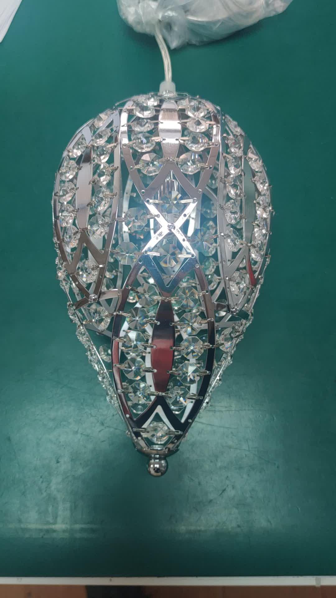Europese Type Bruiloft Decor Moderne Kroonluchter Water Drop Kristal Hanger Lamp Met Stalen Koord Zilveren Frame