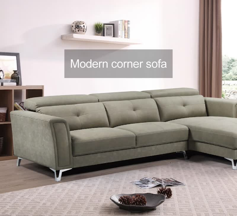 Wholesale nordic luxury sectional couch & simple corner living room pu sofa bed furniture