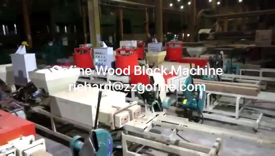Volledige Gecomprimeerd Houten Blok Machine Apparatuur