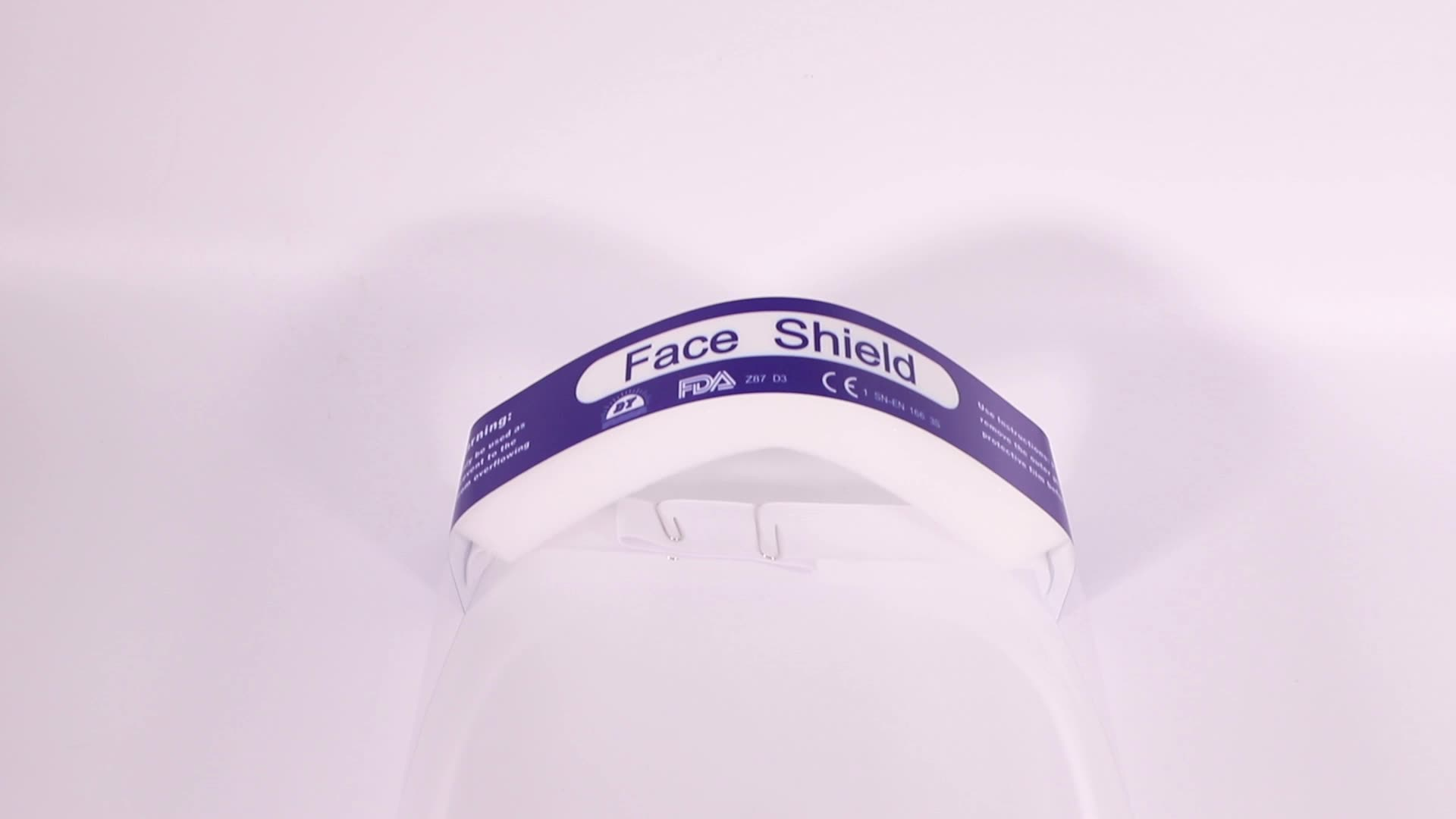 IN STOCK HOT Sales EN166 Disposable Clear Dental Face Shield