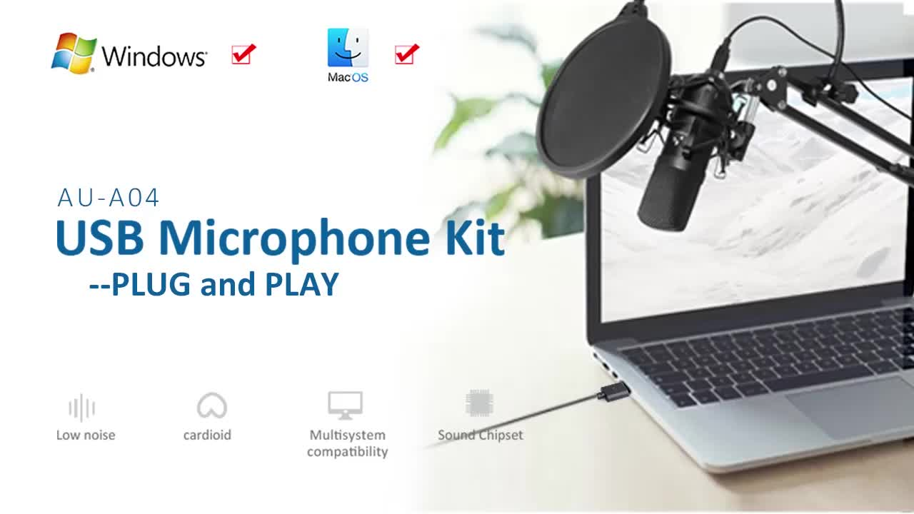 Professional microphone braodcast Usb connection studio condenser microphone