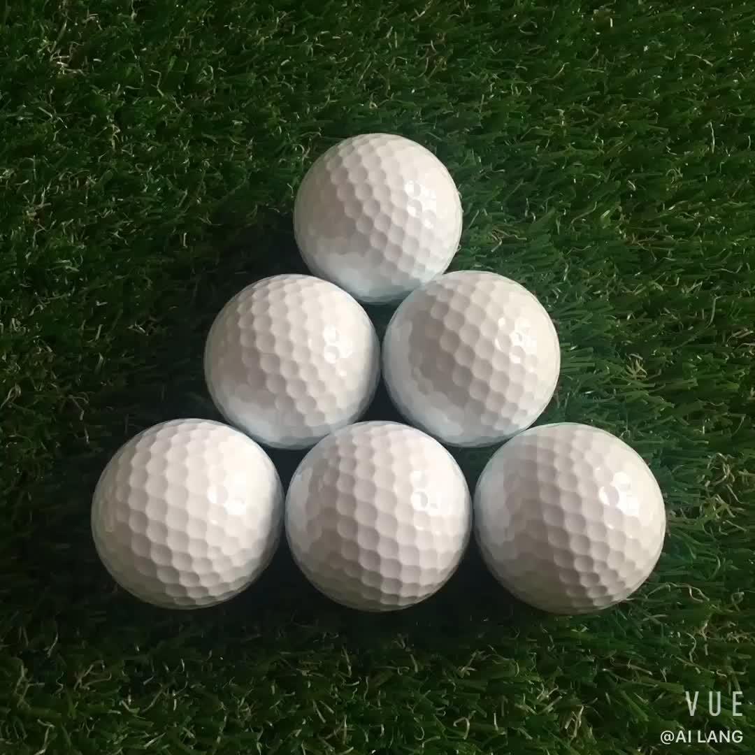 Logotipo personalizado Impresso (PU) Bolas de Golfe Para os Torneios de Uretano Duas Camadas