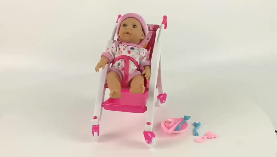 6 inch Micro mini baby reborn doll with trolley for kids