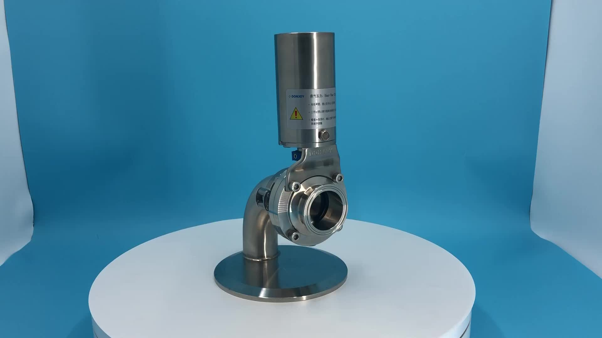 DONJOY316L Stainless steel  flange pneumatic Welded butterfly Valve