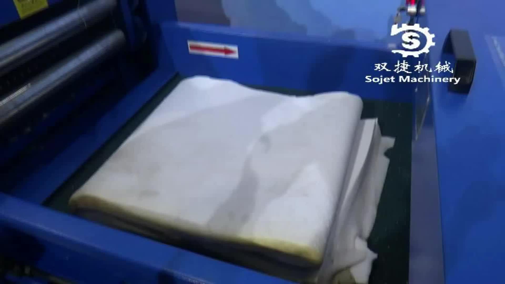 Almofada & pillow máquina de enchimento linha de produção de fibra de cardagem e Esponja de espuma de partículas J-002
