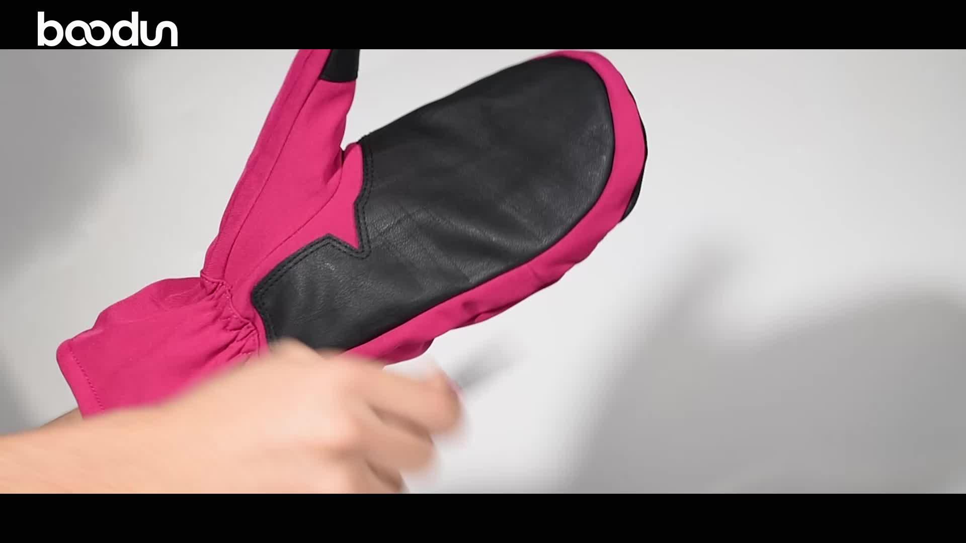 Keep warm outdoor colorful best mitten custom kids waterproof winter gloves