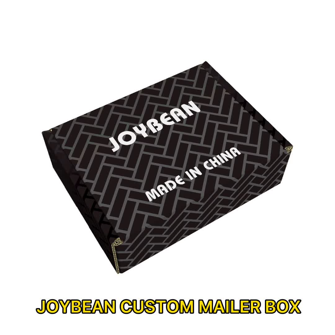 JOYBEAN CMKY Printing Corrugated Custom  Mailer Boxes  With Free Design Services