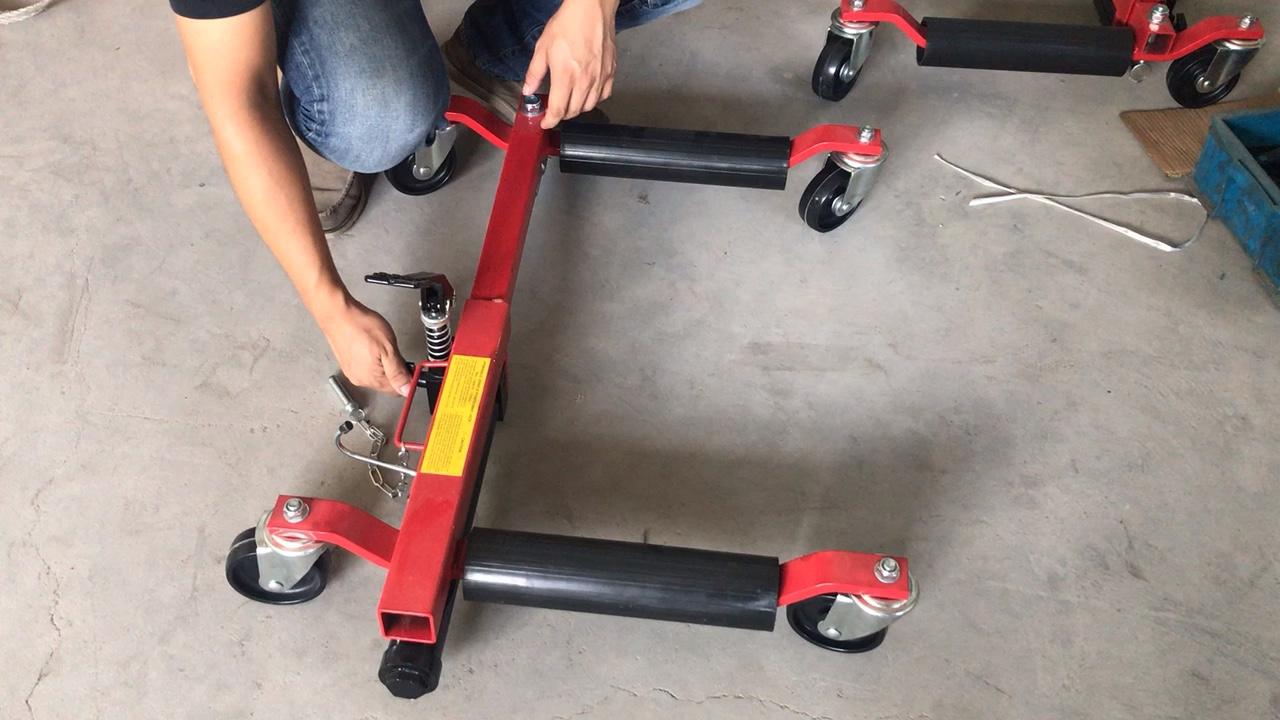 """12 """"1500lbs de positionnement de véhicule hydraulique jack cric de chariot de roue"""