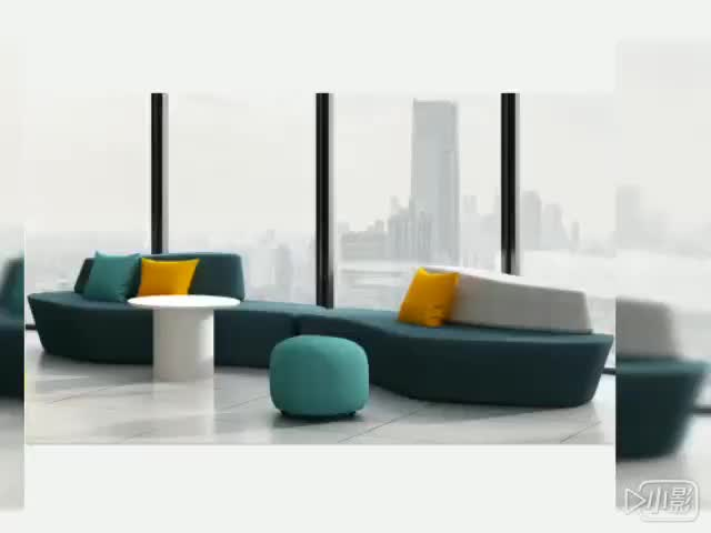Colorful modular fabric  public area outdoor  legless chair modern floor seating office leisure sofa