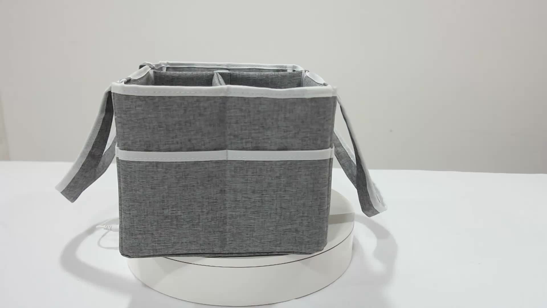 Foldable nappy bags organizer hanging diaper caddy baby