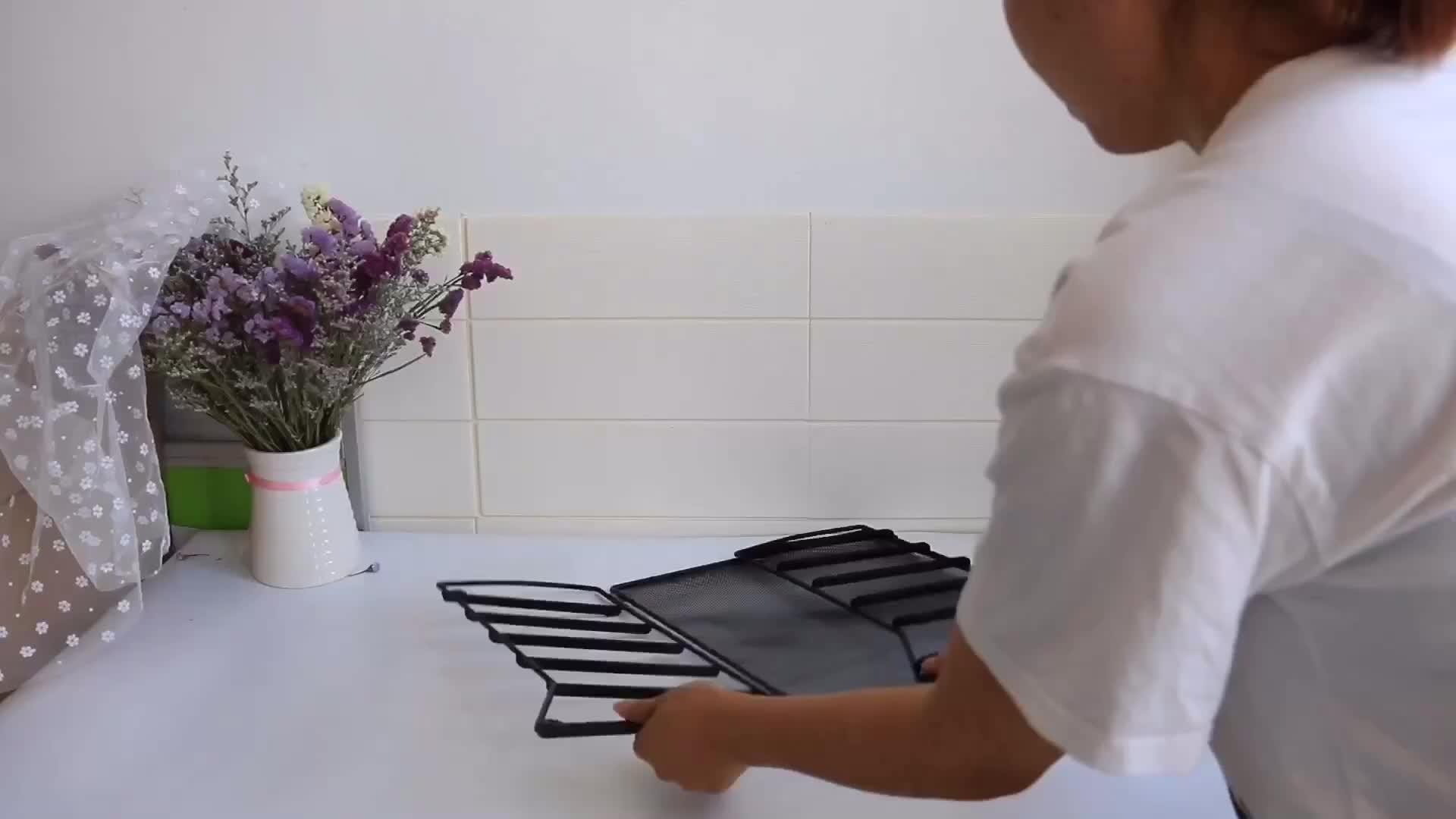Wideny kantoorbenodigdheden school thuis huishoudelijke wire metal mesh wandmontage opknoping organizer muur vijlbladhouder