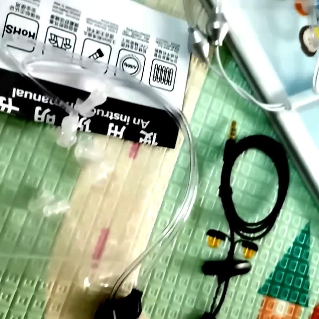 EMF protección tubo de aire auriculares anti-radiación pegatinas